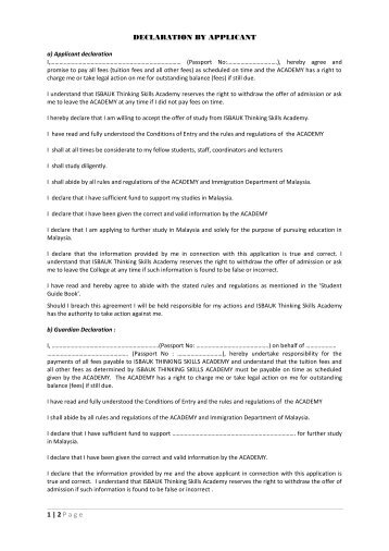 dissertation declaration form uom