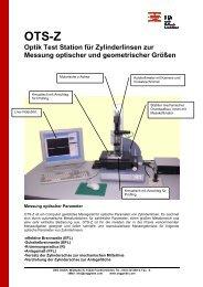 OTS-Z Optik Test Station für Zylinderlinsen zur Messung ... - OEG