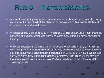 Rule 9 - Narrow channels - MaritimeKnowhow