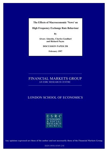 FINANCIAL MARKETS GROUP - Georgetown University