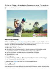 Golfer's Elbow: Symptoms, Treatment, and Prevention