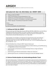 Jahresbericht über die Aktivitäten der ARGEV 2006 (16.3.07)