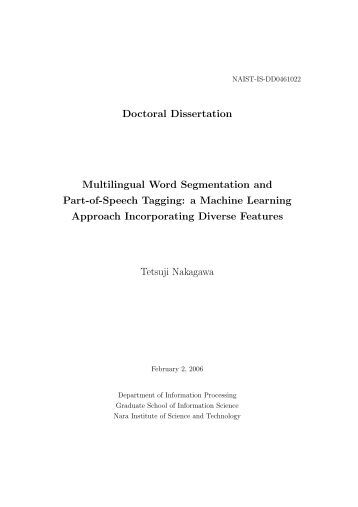 Dissertation on segmentation