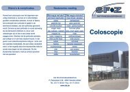 Coloscopie - Sfz.be