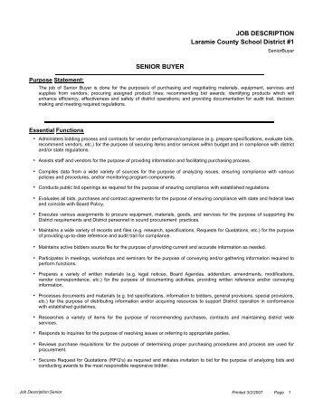Deli Buyer Job Description The Deli Buyer Is Responsible For