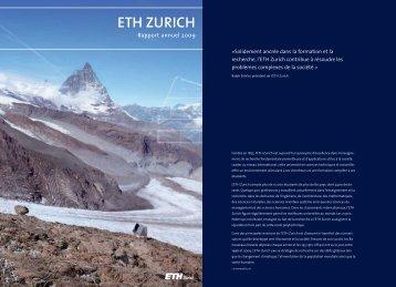 Fondée en 1855, l'ETH Zurich est aujourd' - ETH - Finanzen und ...