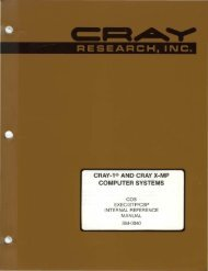 research, inc. cray-1® and cray x-mp computer systems - Index of