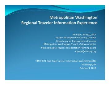 Metropolitan Washington Regional Traveler Information Experience