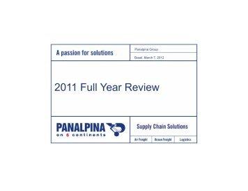 Full Year Review - Panalpina