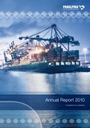 Annual Report 2010 (PDF, 5.2MB) - Panalpina Annual Report 2012