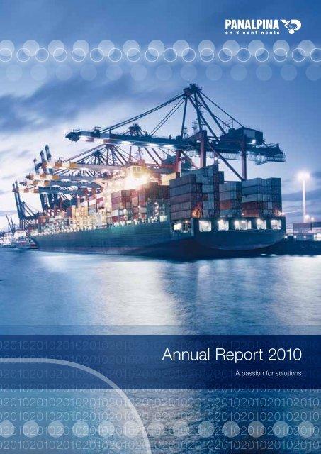 Annual Report 2010 (PDF, 5.2MB) - Panalpina Annual Report 2012