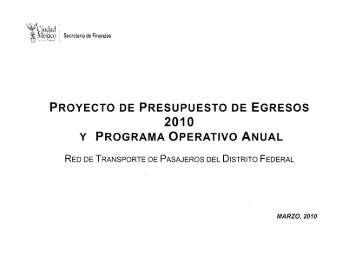 Programa operativo anual 2010 - RTP