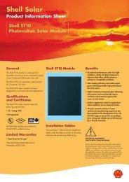 Shell ST10 Photovoltaic Solar Module