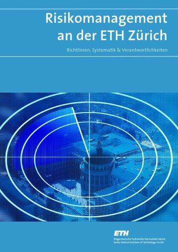 Risikomanagement an der ETH Zürich - ETH - Finanzen und ...