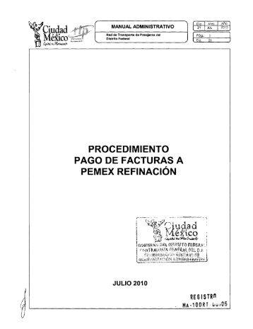 Pago de Facturas a PEMEX Refinación - RTP