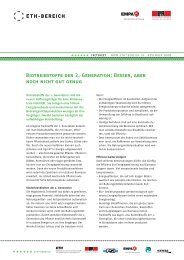 BIOTREIBsTOFFE DER 2. GENERATION: BEssER, ABER NOCh ...
