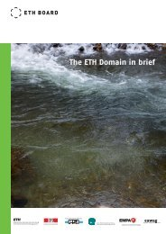 The ETH Domain in brief 2013 (PDF, 2135 KB) - ETH-Rat