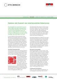 Energie der Zukunft aus kontrollierter Kernfusion (PDF ... - ETH-Rat