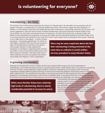 Is volunteering for everyone?