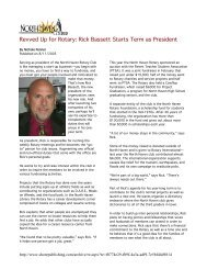 Revved Up for Rotary: Rick Bassett Starts Term as President