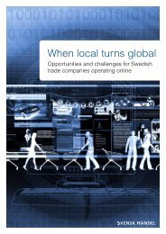 Opportunities And Challenges For Swedish Trade ... - Svensk Handel