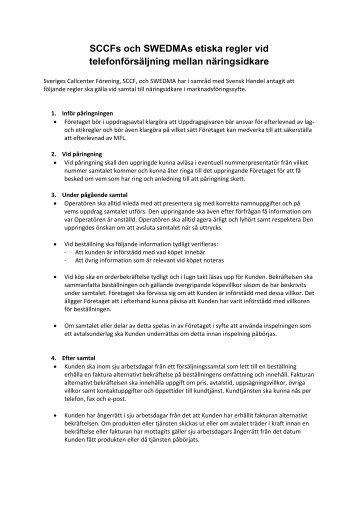 Läs mer om de etiska reglerna B2B