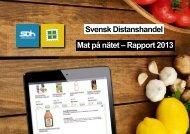 Svensk Distanshandel Mat på nätet – Rapport 2013