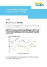 Handelsbarometern september - Svensk Handel