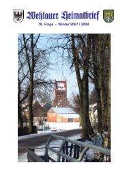 78. Folge - Winter 2007 / 2008 - Kreisgemeinschaft Wehlau