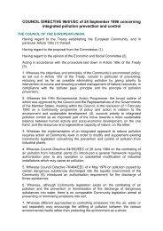 COUNCIL DIRECTIVE 96/61/EC of 24 September 1996 ... - Ainia