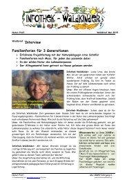 Infothek Waldkinder - Interview mit Ursa Schäfer - Familienferien für 3 Generationen
