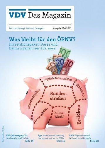 VDV Das Magazin Ausgabe Mai 2015