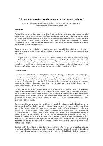 """"""" Nuevos alimentos funcionales a partir de microalgas """" - Ainia"""
