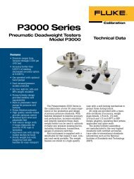 P3000 Series Pneumatic Deadweight Testers Model P3000 - Chell ...