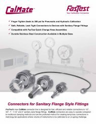 Connectors for Sanitary Flange Style Fittings