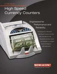 High Speed Currency Counters - Check Writers