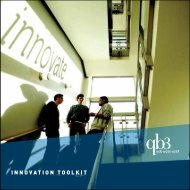 Download the Innovation Toolkit brochure - QB3