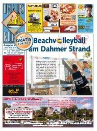 Beachv lleyball am Dahmer Strand - Urlaubs-Kurier