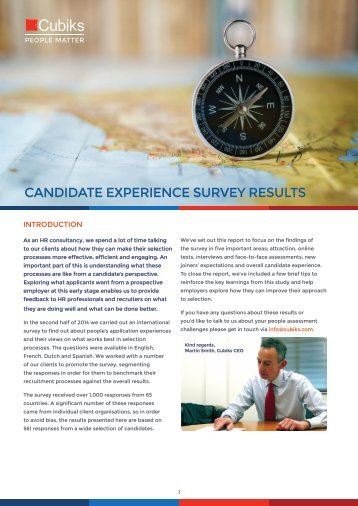 Candidate Experience Survey ENG
