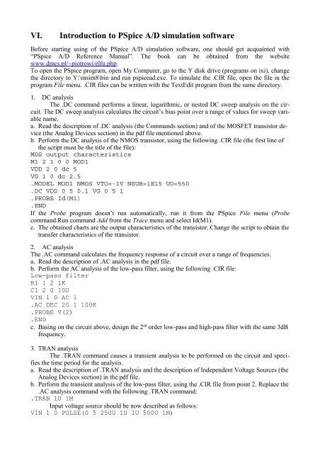 pspice simulation pdf