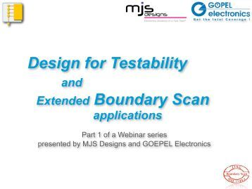 Design for Testability Extended Boundary Scan - Goepel Electronic