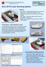 3D Foot Sole Laser Scanner