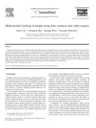 Multi-modal tracking of people using laser scanners and video camera