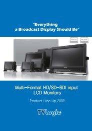 Multi-Format HD/SD-SDI input LCD Monitors - Postium