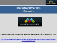 Precision Farming Software & Services Market by Software, Services & Application