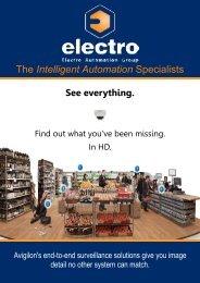 Avigilon HD CCTV Flyer - Electro Automation Group Limited