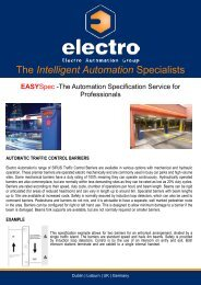 EASYSpec Automatic Barriers - Electro Automation Group Limited