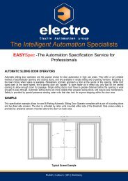 EASYSpec Automatic Sliding Doors - Electro Automation Group ...