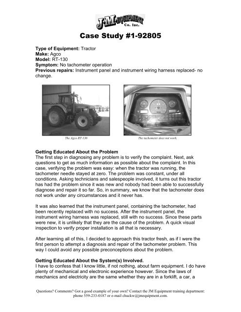 Tractor Diagnostics with a Fluke 98 - Automotive Electronics ... on jeep seat belt harness, jeep exhaust gasket, jeep tach, jeep exhaust leak, jeep condensor, jeep relay wiring, jeep wiring diagram, jeep knock sensor, jeep key switch, jeep electrical harness, jeep carrier bearing, jeep engine harness, jeep sport emblem, jeep bracket, jeep gas sending unit, jeep intake gasket, jeep wiring connectors, jeep vacuum advance, jeep wire connectors, jeep visor clip,