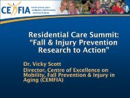 Fall & Injury Prevention Research to Action - The Centre for Hip ...